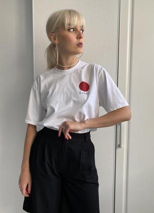 Хлопковая белая футболка