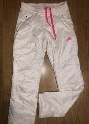 Болоневые штаны на флисе adidas  xs-s