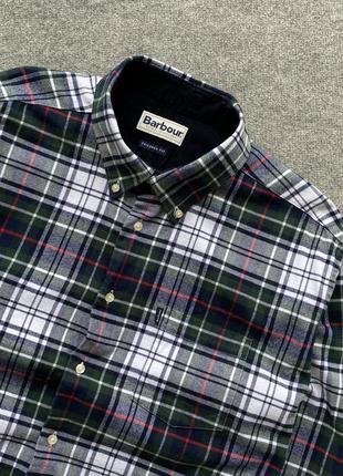 Фланева сорочка в клітинку barbour stapleton tailored fit xxl