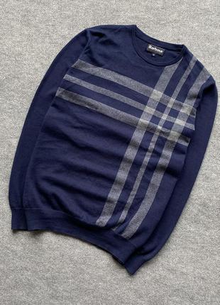Шерстяний свитер з клітинкою barbour