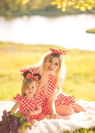 Фемелі лук, плаття для дочки та мами
