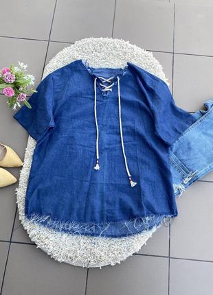 Блуза блузка джинсовая