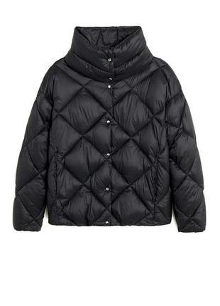 Стеганная куртка дутик теплая mango zara, курточка дутая, пуховик, куртка оверсайз, пуффер, стеганная курточка
