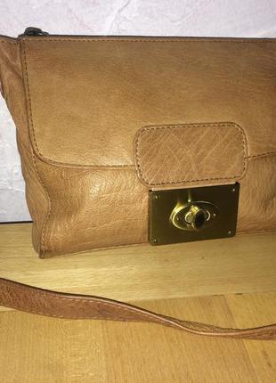 Стильная сумка карман натуральная кожа