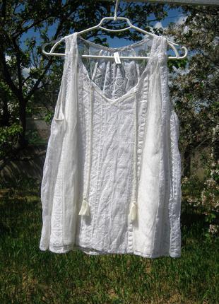Очень красивая нежная ажурная блуза майка soyaconcept дания