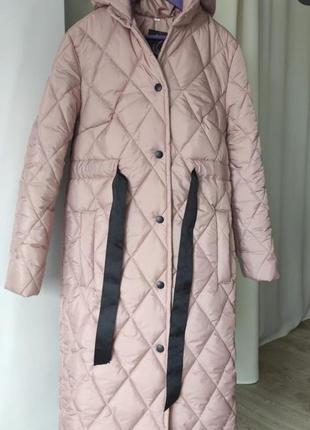 Стёганный пуховик пальто
