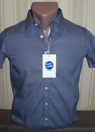 Рубашка (шведка)  приталенная для мальчиков 134 венгрия