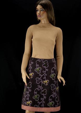 """Оригинальная демисезонная юбка """"white stuff"""" с вышивкой. размер uk8."""