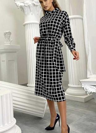 Платье клетка осень украина