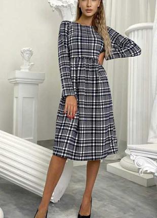 Платье гусиная лапка осень украина