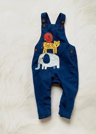M&s классный комбинезон  на коттоновой подкладке на мальчика 6-9 мес