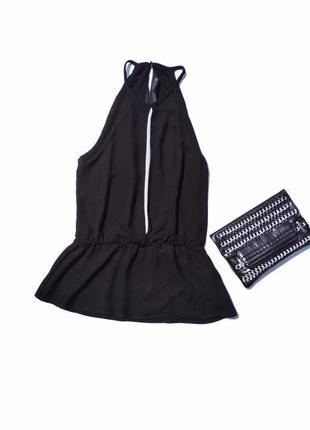 Чёрная блуза майка zara