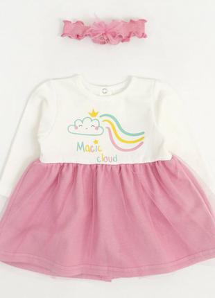 Платье с фатиновой юбкой для девочки