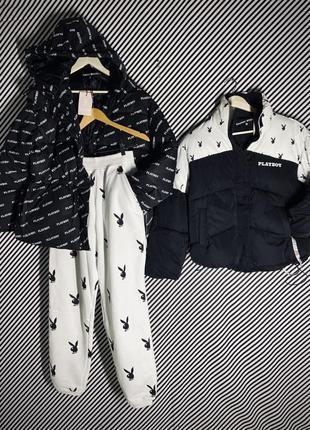 Куртка паффер оверсайз ❤️playboy оригинал