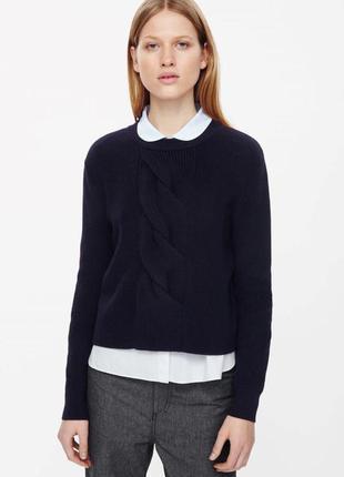Шерстяной свитер cos джемпер arket