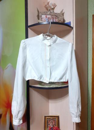 Укороченная блуза этно бохо винтаж октоберфест