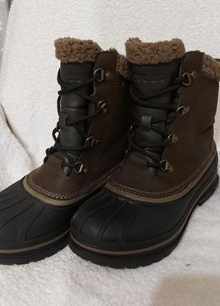 Сапоги ботинки crocs dual komfort 41p коричневые
