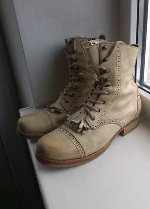Кожанные ботинки allsaints