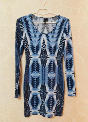 Яркое необычное платье h&m
