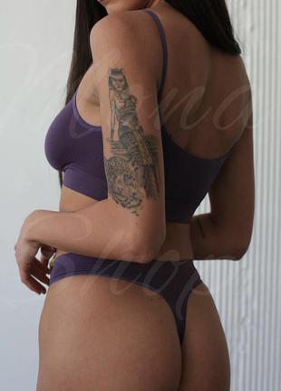 Топ трусики фиолетовый улучшенное качество