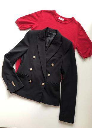 Стильный двубортный пиджак от zara