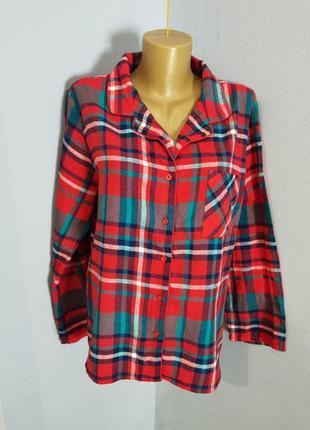 Рубашка домашняя тканевая фланелевая размера 12/m