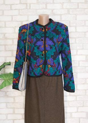 Новый винтажный свитер/кофта на пуговичках со 100 % шерсти в орнамент, размер м-л