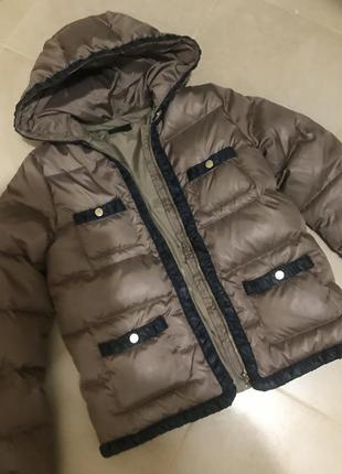 Фирменная куртка пуховик натуральный пух сток!