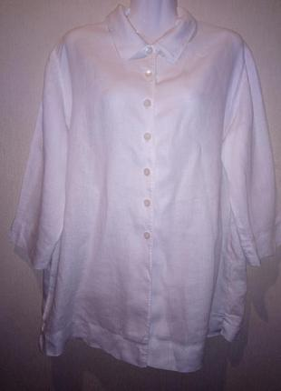 🌺 🌿 🍃 блуза р.48 /лён 🌺 🌿 🍃