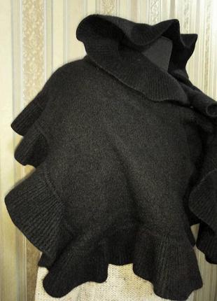 Теплый, стильный шарф / палантин с оборкой, рюшем, шерсть, ангора, h&m