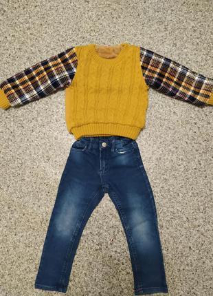 Теплий светр батник кофта реглан на меху меховушка