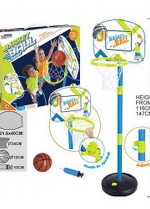 Детское баскетбольное кольцо стойка щит сетка мяч насос