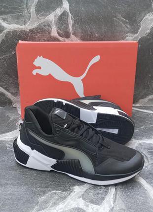 Подростковые кроссовки puma hybrid future черные, осенние