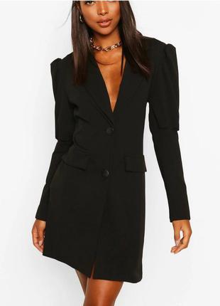 Чорне платья- блейзер, довгий рукав