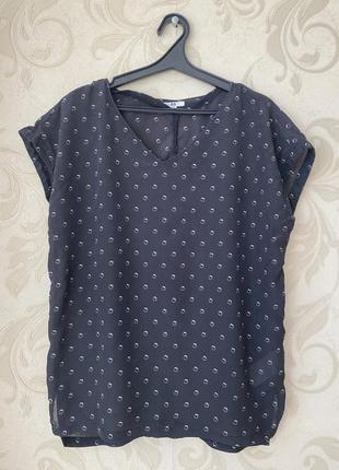 Легкая блуза рубашка шёлк uniqlo