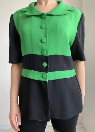 Блузка, сорочка, жіноча блуза трендова, яскрава з наплічниками. bergamo.