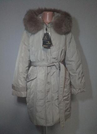 Пуховик женский с натуральным мехом snowcrest