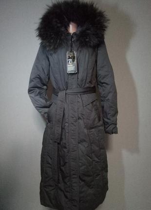 Пуховик женский с натуральным мехом snowcrest xxl