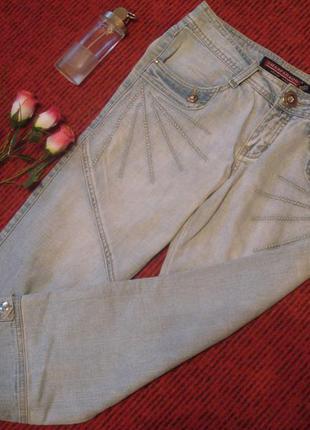 Фирменные джинсовые бриджи размер евр.30