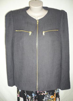 Пиджак на замочке, классика, офис, размер 16-18