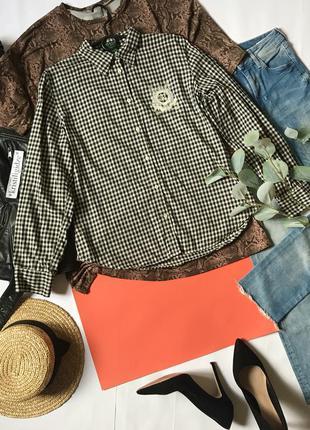 Рубашка в клетку ralph lauren