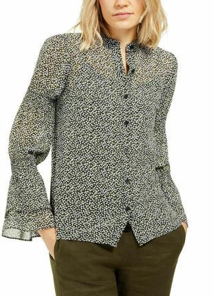 Michael michael kors womens floral smocked blouse блуза нарядная оригинал м