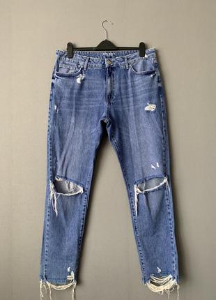 Marks&spenser рваные джинсы скинни высокая посадка.