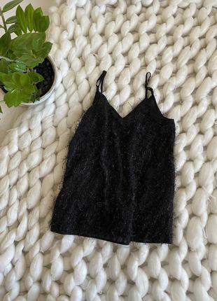 Нарядная блестящяя майка майечка блуза блестки в бельевом стиле оверсайз свободная фактурная