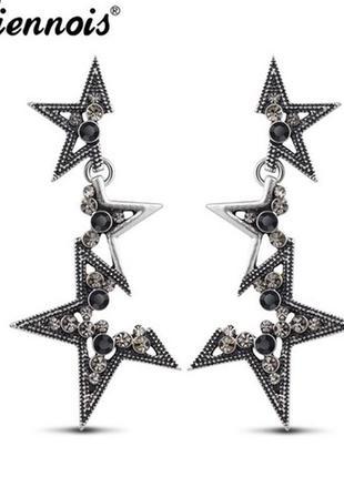 Серьги  звезда ,изысканные серьги, красивая работа и дизайн.