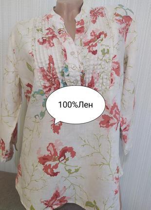 John rocha красивая льняная блузка рубашка кофточка 100%лен