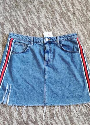 Стильная джинсовая юбка 50 размер