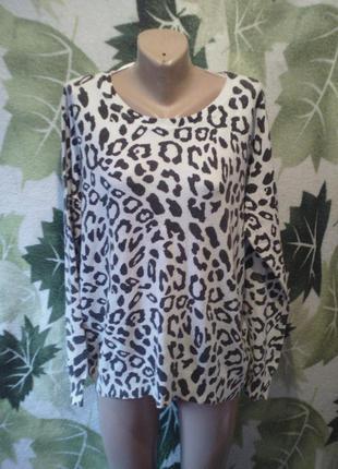 Vero moda кофта свитер теплая большой размер черно белый принт