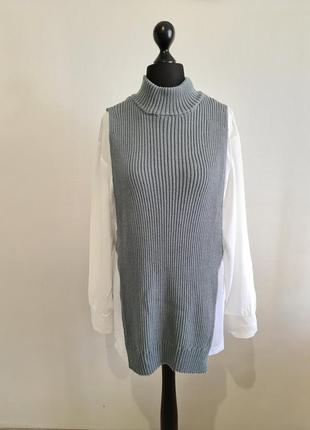 Блуза с вязаным жилетом zara