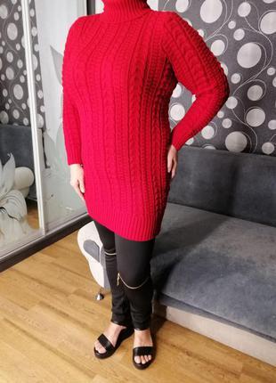 Красный свитер супер батал 54-60